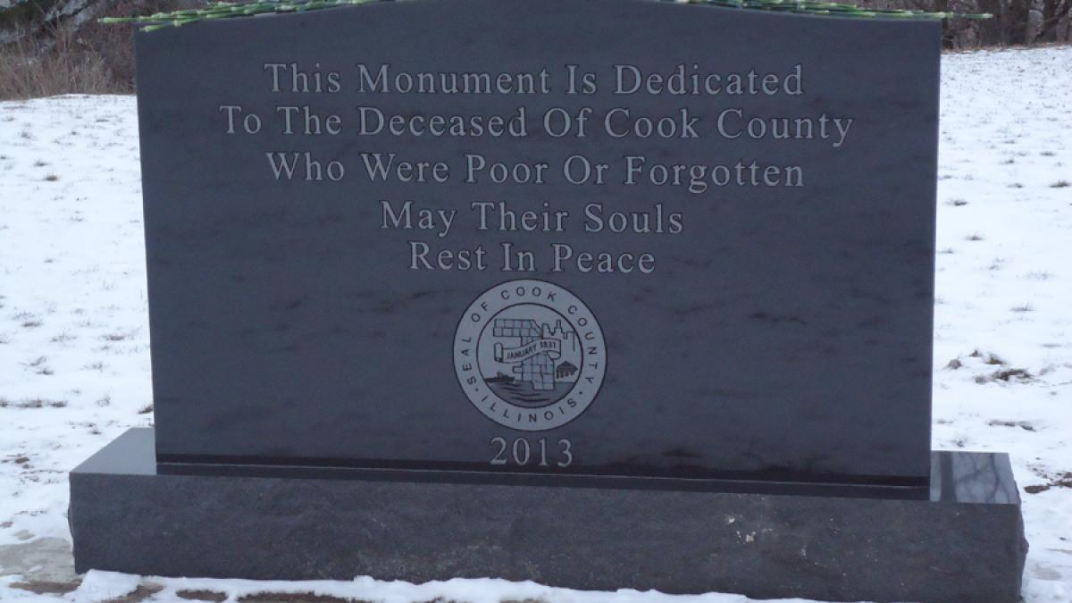 Indigent headstone